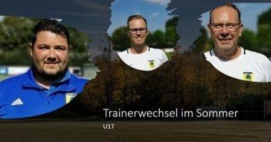 U17: Trainerwechsel im Sommer