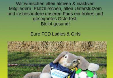 Ostergruß der FCD Ladies und Girls